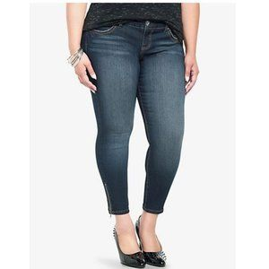 Torrid Denim Ankle Zip Skinny Jeans